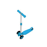 Blue push scooter on white. Clipping path included. Stock Photos
