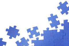 Blue puzzle. Photo of the blue puzzle Stock Photography