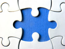 Blue puzzle Royalty Free Stock Photo