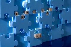 Blue puzzle stock images