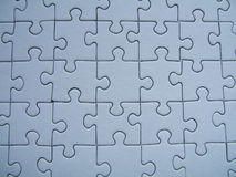 Blue puzzle stock photo