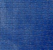 Blue puzzle. Abstract illustration with blue puzzle texture Stock Photography