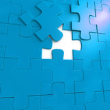 Blue puzzle Royalty Free Stock Photos