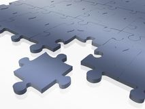 Blue puzzle Stock Photography