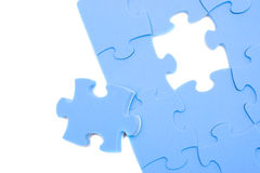 Blue puzzle Royalty Free Stock Photography