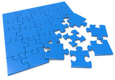 Blue puzzle Stock Images