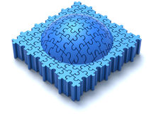 Blue Puzzle Dome Stock Photo