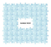Blue puzzle field Royalty Free Stock Images