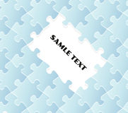 Blue puzzle field Royalty Free Stock Photos