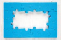 Blue puzzle frame Stock Image