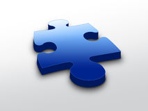 Blue puzzle piece Royalty Free Stock Photos