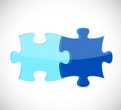 Blue puzzle pieces illustration design Royalty Free Stock Photography