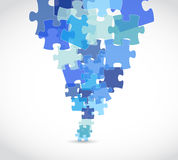 Blue puzzle pieces illustration design Royalty Free Stock Image