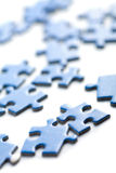 Blue puzzle pieces isolated Royalty Free Stock Image