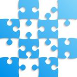 Blue Puzzle Pieces - JigSaw - Field for Chess. Royalty Free Stock Images