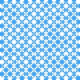 Blue Puzzle Pieces JigSaw - Vector - Field Chess. Blue Puzzle Pieces in a White Square - JigSaw - Vector Illustration. Vector Background. Field for Chess Stock Images