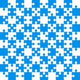 Blue Puzzle Pieces - JigSaw Vector - Field Chess. Blue Puzzle Pieces in a White Square - JigSaw - Vector Illustration. Vector Background. Field for Chess Stock Image