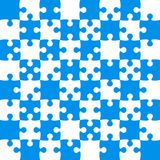 Blue Puzzle Pieces - JigSaw Vector - Field Chess Stock Image