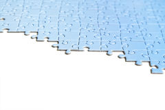 Blue puzzle texture, isolated Royalty Free Stock Photo