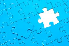Blue puzzles. For background. business concept Royalty Free Stock Image