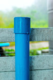 Blue PVC pipe for the faucet. Stock Photography