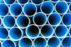 Blue PVC Pipe Stock Photography