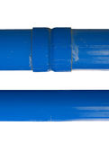 Blue PVC pipe Royalty Free Stock Photography