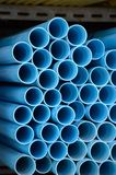 Blue pvc pipes Royalty Free Stock Images