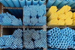 Blue pvc pipes Royalty Free Stock Photo
