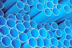 Blue pvc pipes Royalty Free Stock Image