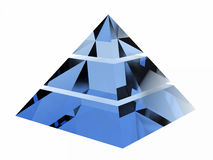 Blue Pyramid Royalty Free Stock Images
