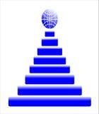 Blue pyramid Stock Image