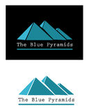 Blue pyramid signs Stock Images