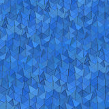 Blue pyramids background. Royalty Free Stock Photos