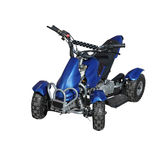 Blue quad bike Stock Photography