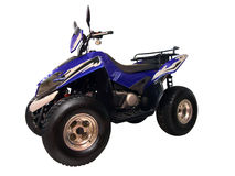 Blue quadbike Royalty Free Stock Images