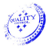 Blue quality control stamp Royalty Free Stock Photo