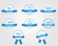 Blue quality ribbons Royalty Free Stock Photos