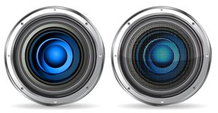 Blue quality speaker Stock Photos