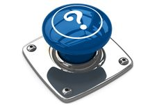 Blue question button concept. Royalty Free Stock Photography