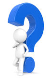 Blue question mark Royalty Free Stock Photos