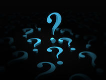 Blue question marks Royalty Free Stock Images