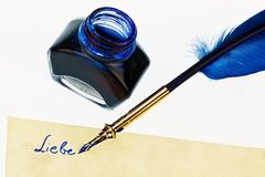 Blue Quill Royalty Free Stock Photo