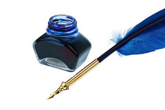 Blue quill Royalty Free Stock Photos