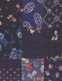 Blue quilt Stock Image