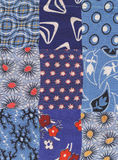 Blue quilt. My handmade blue quilt pattern Royalty Free Stock Photos