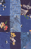 Blue quilt pattern Stock Images