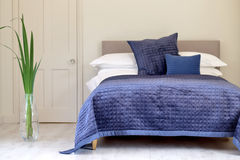 Blue quilt Royalty Free Stock Photography