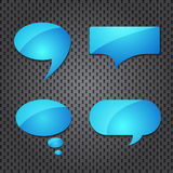 Blue quote speech bubble Stock Photos