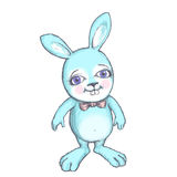 Blue Rabbit Royalty Free Stock Images